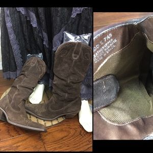Steven Madden Suede Cowgirl Boots